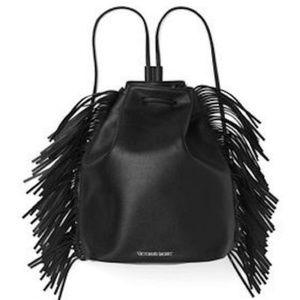 Victoria's Secret black fringe backpack